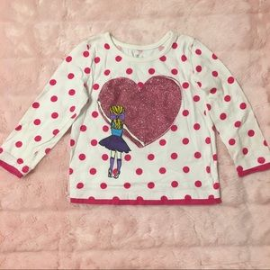 Children's Place Long Sleeve Polka Dotted Tee